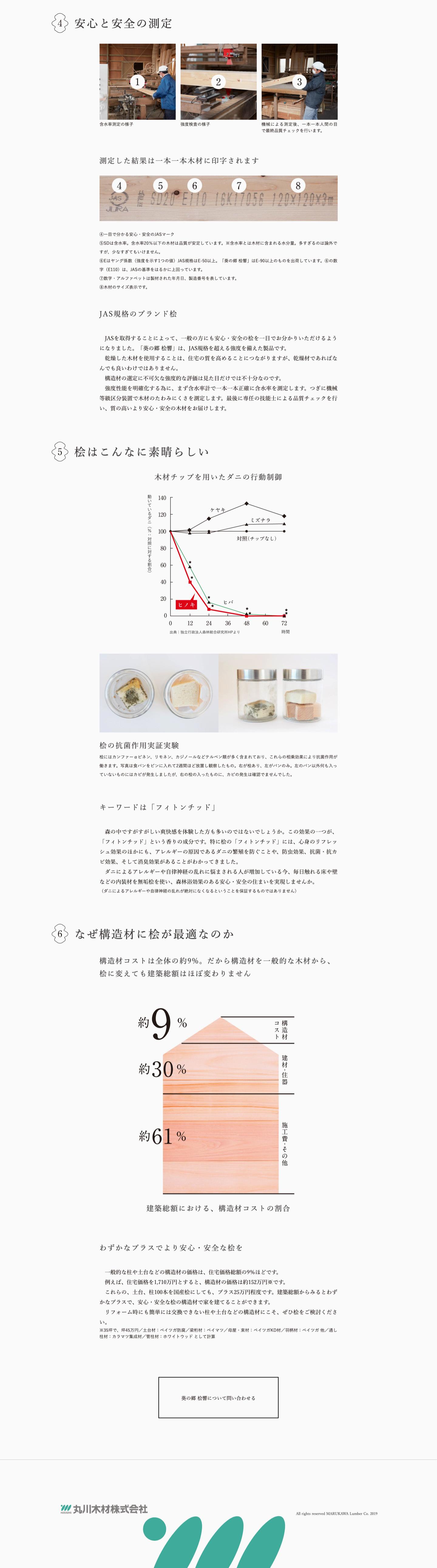 丸川木材株式会社のWEBサイト
