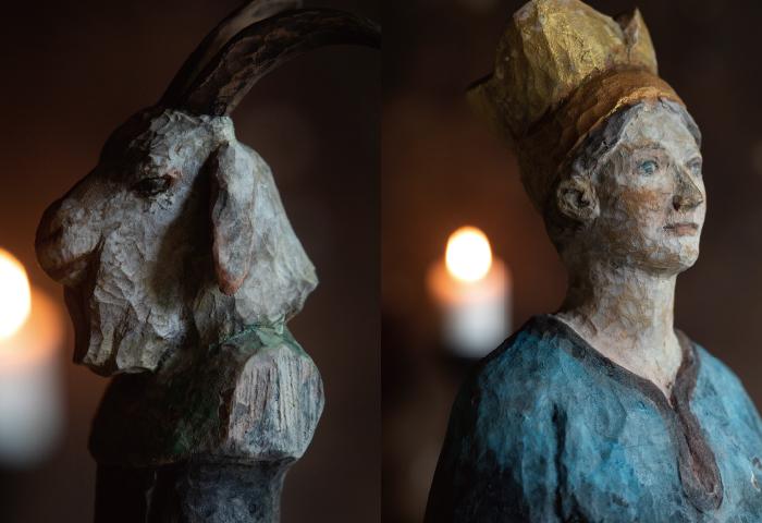 古川潤彫刻展「トムテの棲む森 十二月の祈りと旅を感じて」DM